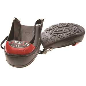 National Brand Alternative T2GUM Men's 8-13 Women's 10-13 Black/Red Toes2Go Steel Toe Cap Overshoes