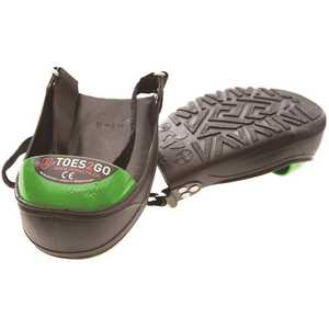 National Brand Alternative T2GUL Men's 13-16 Black/Green Toe2Go Steel Toe Cap Overshoes