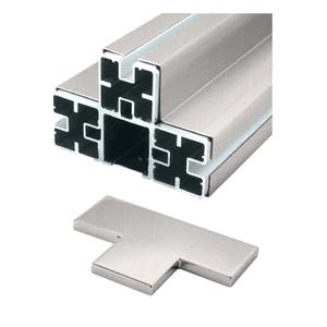 CRL BPT1BSC Brushed Stainless 'T' Barrier Post Kit - Custom Height