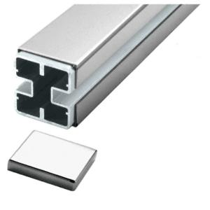CRL BPC1PSC Polished Stainless 180 Center Barrier Post Kit - Custom Height
