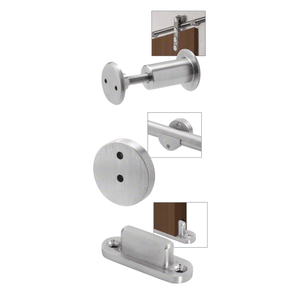 CRL LSWMADTPS Polished Stainless Laguna Sliding Door Hardware Adaptor Kit for Wood Doors