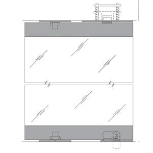 """Black 1301 Series Display Case Door - 1/2"""" Tempered Glass"""