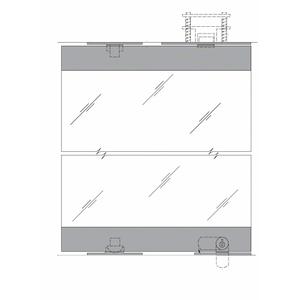 "CRL Blumcraft 13SDL12SA Satin Anodized 1301 Series Display Case Door - 1/2"" Laminated Glass"