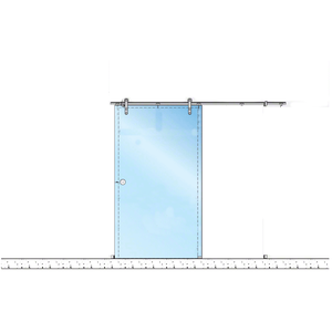 CRL LSWM5BS Brushed Stainless Laguna Series Wall Mount Single Slider Kit
