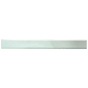 """Clear Mirror Glass 2"""" x 20"""" Strips Beveled Only on 2 Long Sides"""