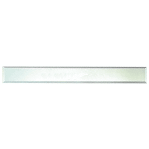 """Clear Mirror Glass 4"""" x 16"""" Strips Beveled on All 4 Sides - pack of 4"""