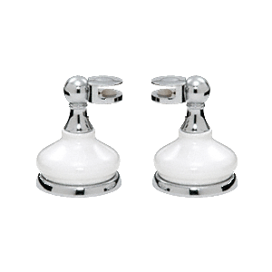 CRL MP6208 Porcelain and Chrome Mirror Pivots