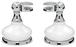 CRL MP6208 Porcelain and Chrome Mirror Pivots