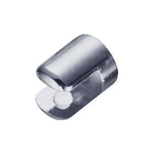 """Chrome 25/32"""" Diameter No-Drill Round Shelf Clamp for 3/8"""" Glass"""