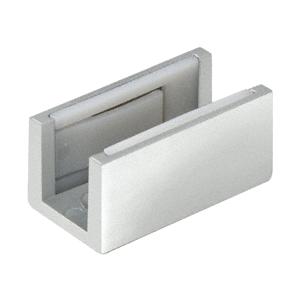 CRL CRL3978 Satin Anodized Adjustable Bottom Guide for Sliding Glass Doors