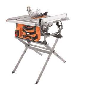 RIDGID R4518 RIDGID 15 Amp 10 in. Table Saw with Folding Stand