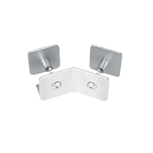 CRL PB007PS Polished Stainless Bullet Resistant Protective Barrier System 135 Bottom Mount Outside Clamp