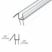 """CRL P914WS Clear Co-Extruded Bottom Wipe with Drip Rail for 1/4"""" Glass"""