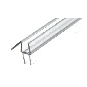 "CRL P914WS Clear Co-Extruded Bottom Wipe with Drip Rail for 1/4"" Glass"