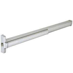 "48"" Model 2095 Grade 1 Rim Latch Panic Exit Device Left Hand Reverse Bevel with 'C' Strike 4 Foot Aluminum Finish"