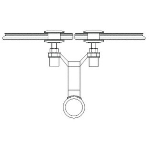 """CRL AMS0B24BS Brushed Stainless 2"""" x 4-1/8"""" Spider Fitting Post Adaptor"""