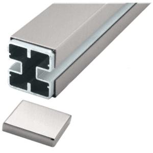 CRL BPC1BSC Brushed Stainless 180 Center Barrier Post Kit - Custom Height