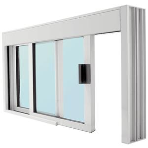 CRL DW48360XGA Standard Size Manual DW Deluxe Service Window, Glazed with Half-Track