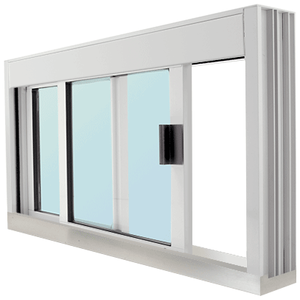 CRL DW4836S0XGA Standard Size Manual DW Deluxe Service Window Glazed with S.S.Step-Sill