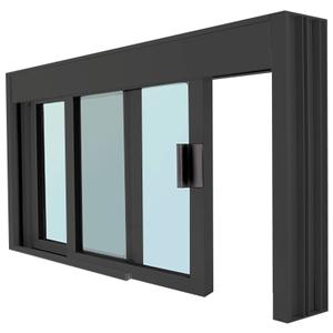 CRL DW48360XGDU Standard Size Manual DW Deluxe Service Window Glazed with Half-Track