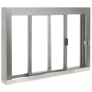 CRL SCDW4836S0XUA Standard Size Self-Closing Deluxe Service Window Unglazed with S.S.Step-Sill