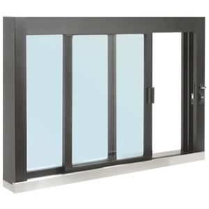CRL SCDW4836S0XGDU Standard Size Self-Closing Deluxe Service Window Glazed with S.S.Step-Sill