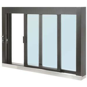 CRL SCDW4836SX0GDU Standard Size Self-Closing Deluxe Service Window Glazed with S.S.Step-Sill