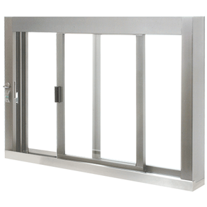 CRL SCDW4836SX0UA Standard Size Self-Closing Deluxe Service Window Unglazed with S.S.Step-Sill