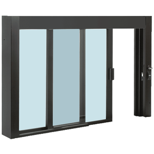 CRL SCDW48360XGDU Standard Size Self-Closing Deluxe Service Window Glazed with Half-Track