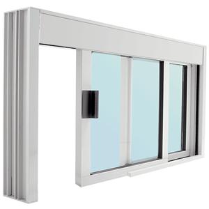 CRL DW4836X0GA Standard Size Manual DW Deluxe Service Window Glazed with Half-Track