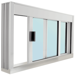 CRL DW4836SX0GA Standard Size Manual DW Deluxe Service Window Glazed with S.S.Step-Sill