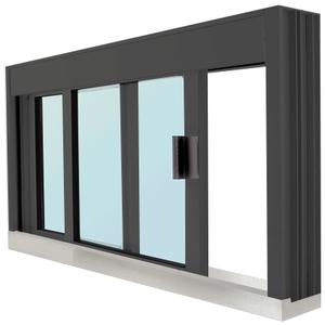 CRL DW4836S0XGDU Standard Size Manual DW Deluxe Service Window Glazed with S.S.Step-Sill