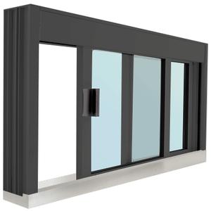 CRL DW4836SX0GDU Standard Size Manual DW Deluxe Service Window Glazed with S.S.Step-Sill