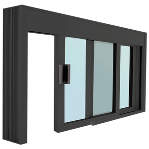 Standard Size Manual DW Deluxe Service Window Glazed with Half-Track
