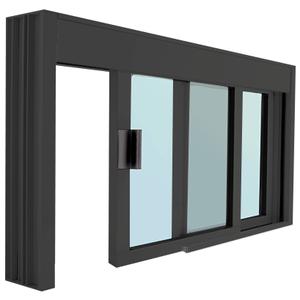 CRL DW4836X0GDU Standard Size Manual DW Deluxe Service Window Glazed with Half-Track