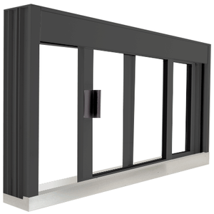 CRL DW4836SX0UDU Standard Size Manual DW Deluxe Service Window Unglazed with S.S.Step-Sill