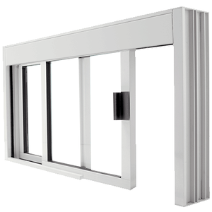 CRL DW48360XUA Standard Size Manual DW Deluxe Service Window Unglazed with Half-Track