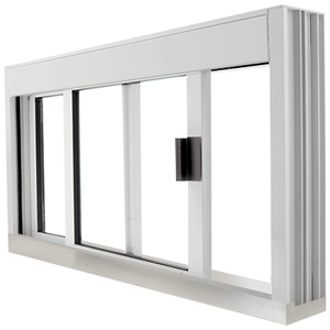 CRL DW4836S0XUA Standard Size Manual DW Deluxe Service Window Unglazed with S.S.Step-Sill