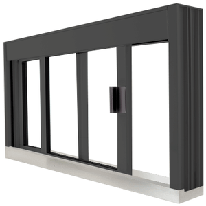 CRL DW4836S0XUDU Standard Size Manual DW Deluxe Service Window Unglazed with S.S.Step-Sill