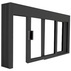 CRL DW4836X0UDU Standard Size Manual DW Deluxe Service Window Unglazed with Half-Track