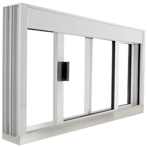 CRL DW4836SX0UA Standard Size Manual DW Deluxe Service Window Unglazed with S.S.Step-Sill