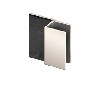 "CRL DS12SQ1PN Polished Nickel Square Door Stop for 1/2"" Glass"