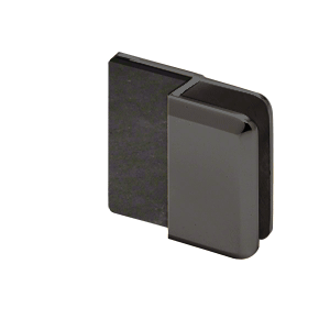 "CRL DS12BEV1MBL Matte Black Beveled Door Stop for 1/2"" Glass"