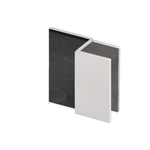 "CRL DS12SQ1SC Satin Chrome Square Door Stop for 1/2"" Glass"