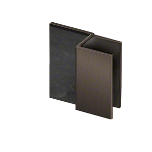 "CRL DS12SQ10RB Oil Rubbed Bronze Square Door Stop for 1/2"" Glass"