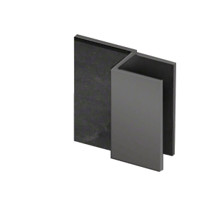 "CRL DS12SQ1MBL Matte Black Square Door Stop for 1/2"" Glass"