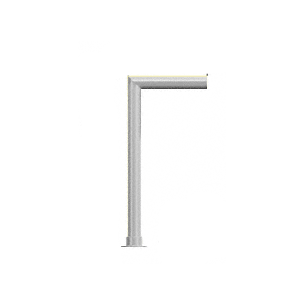 "CRL SG5925RH0EBS Elegant Series Right Hand Open End Sneeze Guard for 3/8""(10mm) Glass, 18""High, 12"" Shelf, 1-1/2"" Diameter, 2"" Air Gap"
