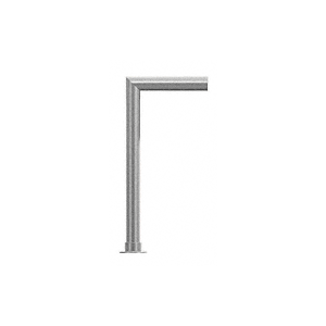 "CRL SG5950CBS Elegant Series Center Post Sneeze Guard for 3/8"" (10 mm) Glass, 18"" High, 12"" Shelf, 1-1/2"" Diameter, 2"" Air Gap"