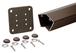 "CRL P536KBRZ Matte Bronze 200, 300, 350, and 400 Series 36"" Long 135 Degree Surface Mount Post Kit"