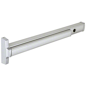 Model 2086C Cylinder Dogging Concealed Vertical Rod Panic Exit Device Left Hand Reverse Bevel Fits 3/0 x 7/0 Door Aluminum Finish
